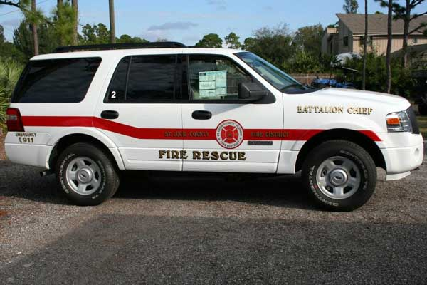 Fire Engine Signs, Graphics and Lettering