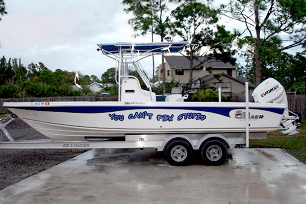 Boat Signs Graphics And Lettering In Stuart FL - Boat stickers and decals