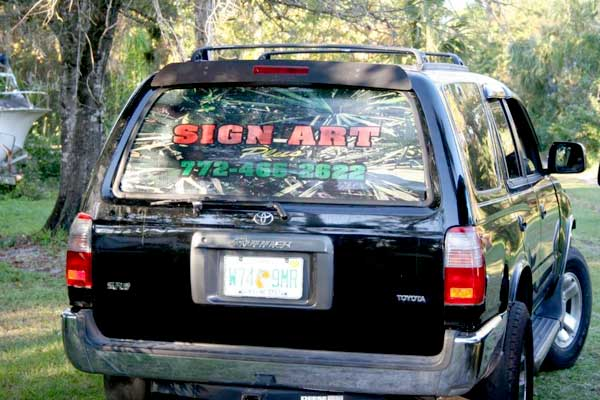 Vehicle Signs, Wraps, Graphics and Lettering in Vero Beach Florida