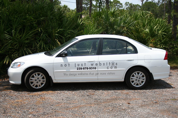 Car Signs, Graphics and Lettering  in Vero Beach Florida