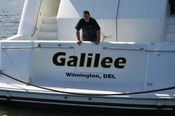 Yacht Signs, Graphics and Lettering in Vero Beach Florida